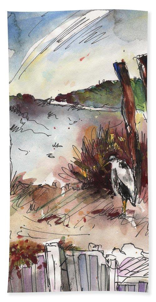 Travel Bath Sheet featuring the painting Albufera De Valencia 04 by Miki De Goodaboom