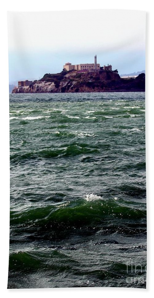 san Francisco Bath Sheet featuring the photograph Alcatraz by Henrik Lehnerer