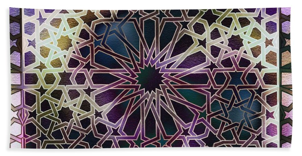 Alhambra Hand Towel featuring the digital art Alhambra Pattern by Hakon Soreide