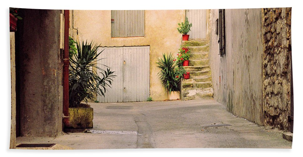 Arles Bath Sheet featuring the photograph Alley In Arles France by Greg Matchick