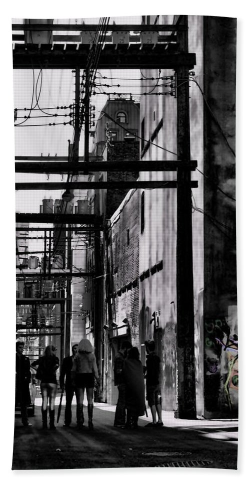 Jerry Cordeiro Framed Prints Photographs Bath Sheet featuring the photograph Alley Parade by The Artist Project