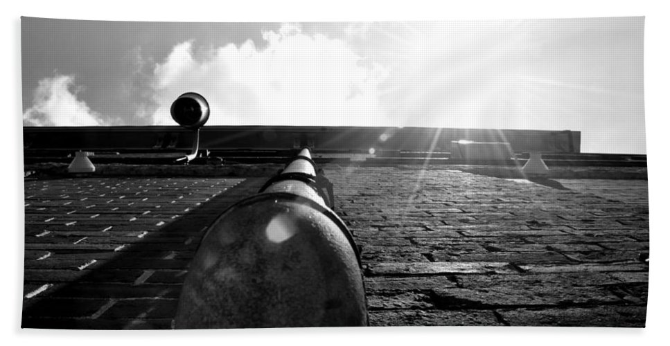 Bath Sheet featuring the photograph Alley's Sunny Day by Mark Valentine