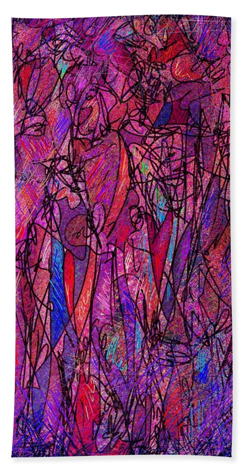 Figure Bath Towel featuring the digital art Alone In A Crowd by William Russell Nowicki