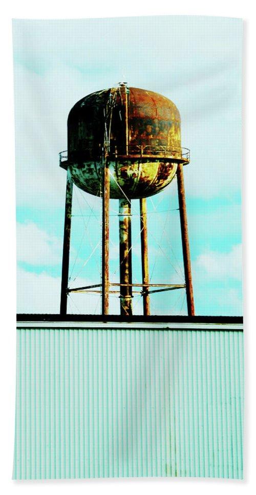 Water Tower Bath Sheet featuring the photograph Along Highway 61 by Lizi Beard-Ward