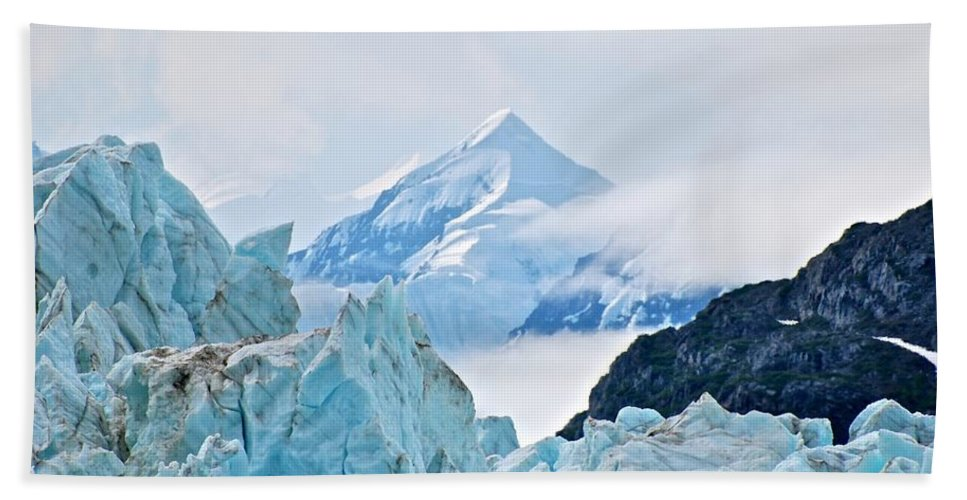 Glacier Hand Towel featuring the photograph Alpha And Omega by Eric Tressler