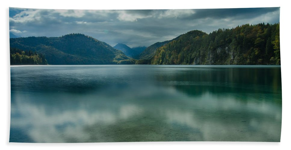 Alpsee Hand Towel featuring the photograph Alpsee by Jonah Anderson