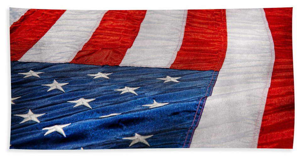 911 Hand Towel featuring the photograph Americana - Flag - Stars And Stripes by Mike Savad