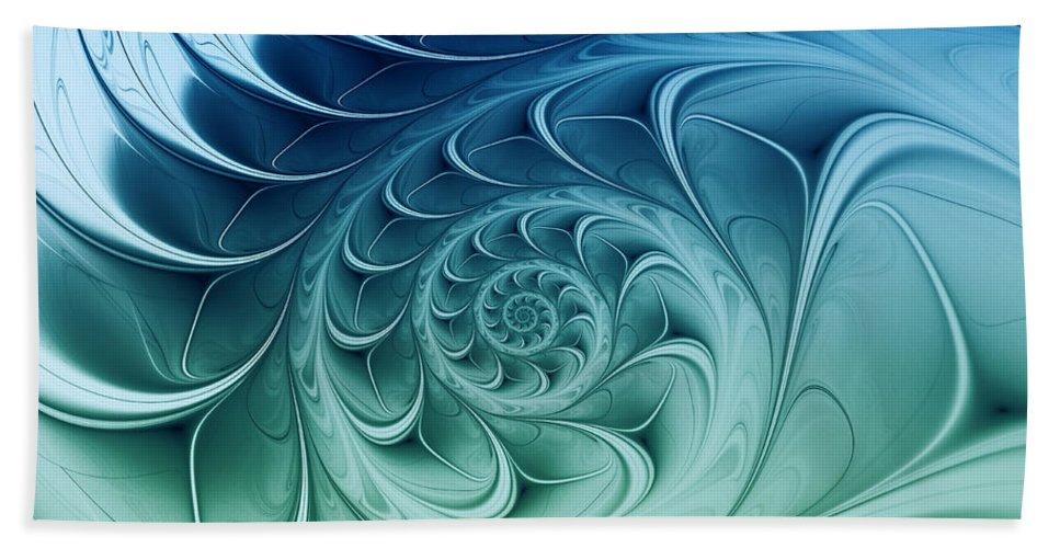 Fractal Bath Sheet featuring the digital art Ammonite by Jutta Maria Pusl