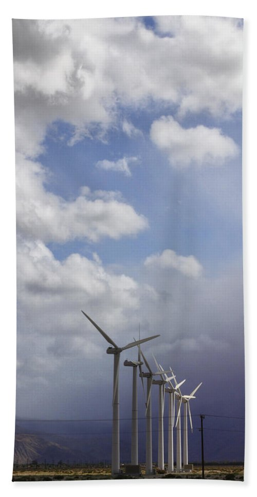 Windmills Bath Sheet featuring the photograph Amongst The Clouds by William Dey