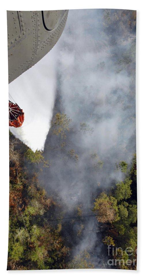 Air Support Bath Sheet featuring the photograph An Air National Guard Unit Provides Air by Stocktrek Images