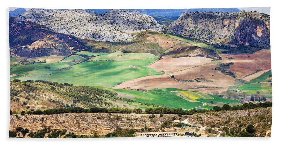 Andalucia Hand Towel featuring the photograph Andalucia Countryside by Artur Bogacki