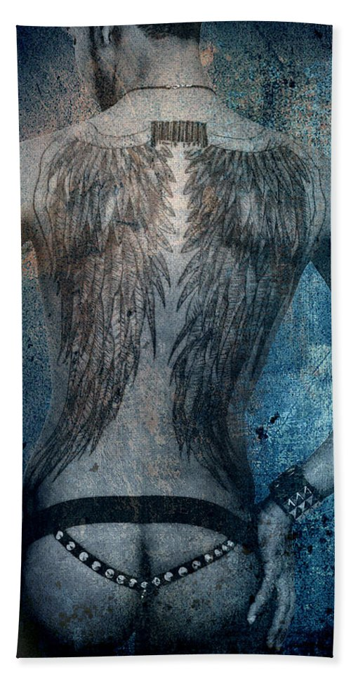 Body Bath Sheet featuring the photograph Angel Nude by Mark Ashkenazi