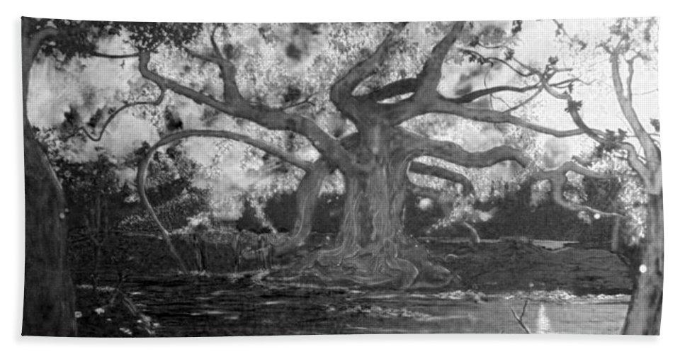 Angel Oak Bath Sheet featuring the painting Angel Oak by Stefan Duncan