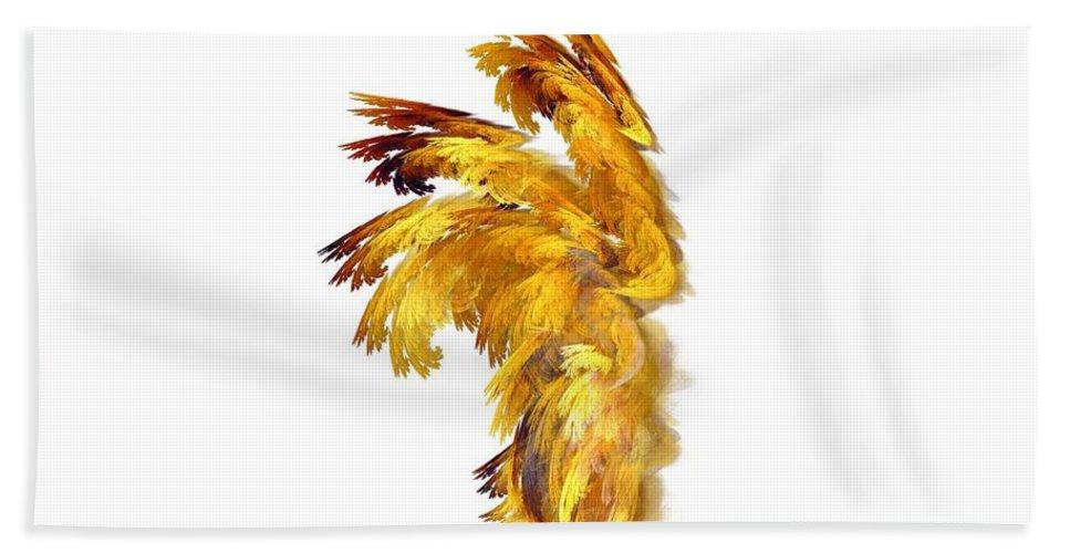 Apophysis Bath Sheet featuring the digital art Angel Wings by Kim Sy Ok