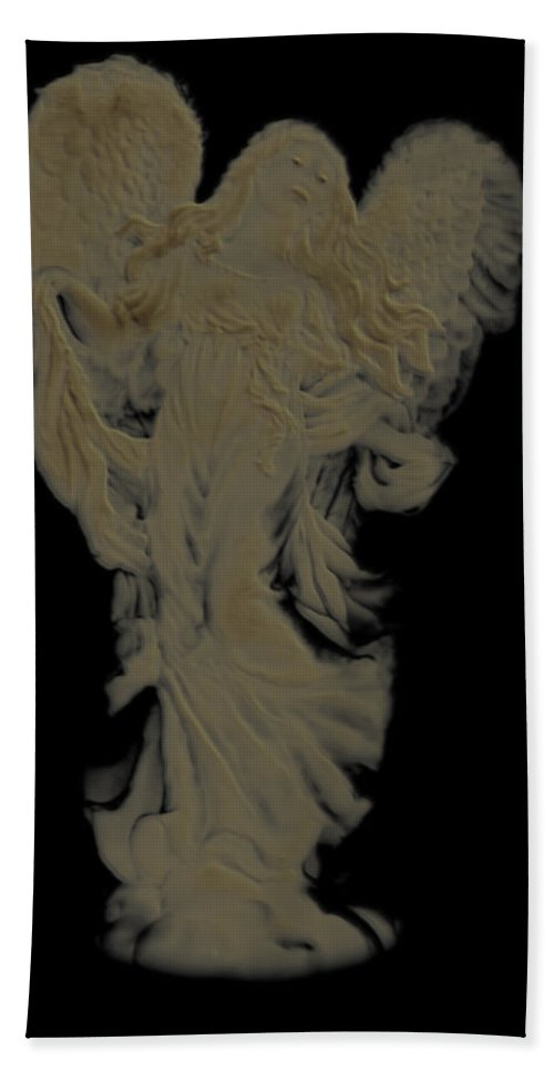 Bath Sheet featuring the photograph Angle Art Iv Cameo Effect by Debbie Portwood