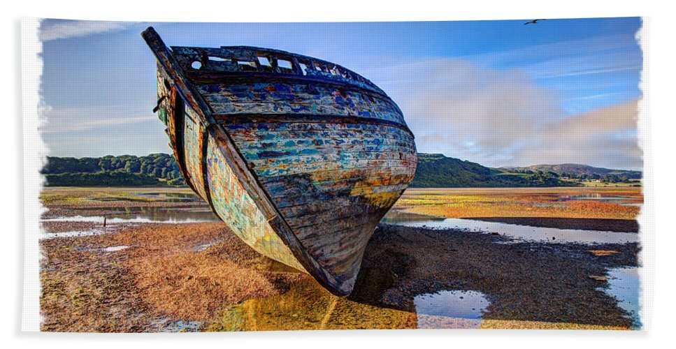 Wreck Bath Sheet featuring the photograph Anglesey Shipwreck by Mal Bray