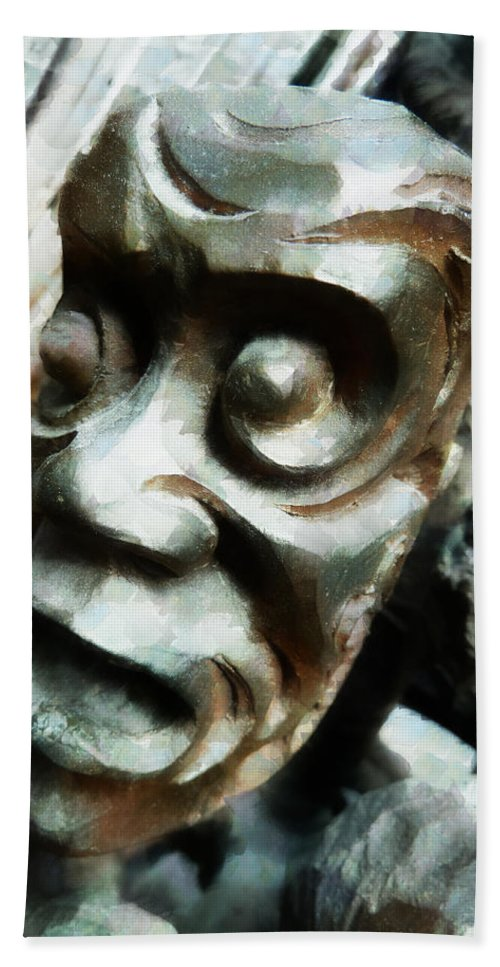 Anguish Hand Towel featuring the photograph Anguish by Steve Taylor