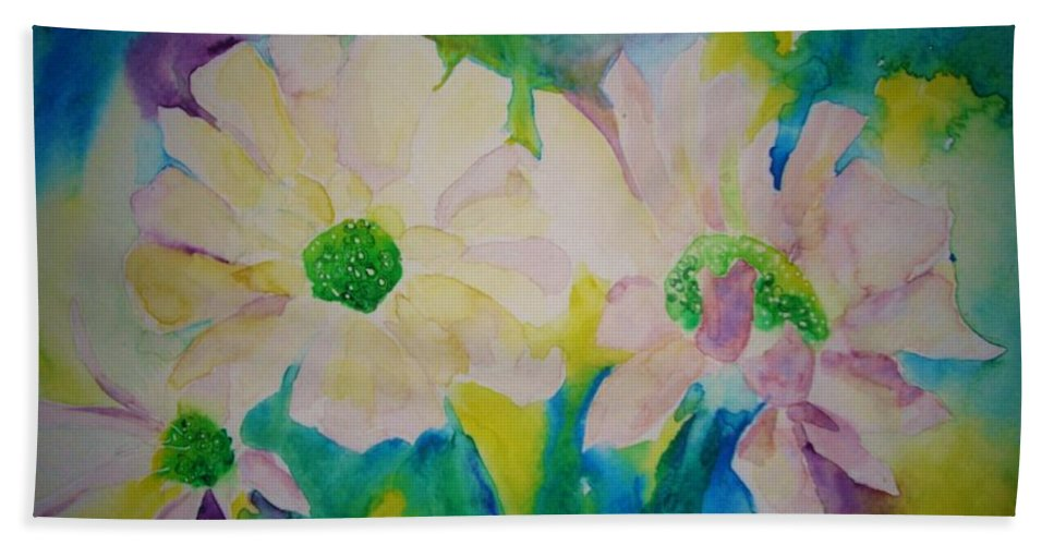 Flowers Bath Sheet featuring the painting Anne's Flowers by Melinda Etzold