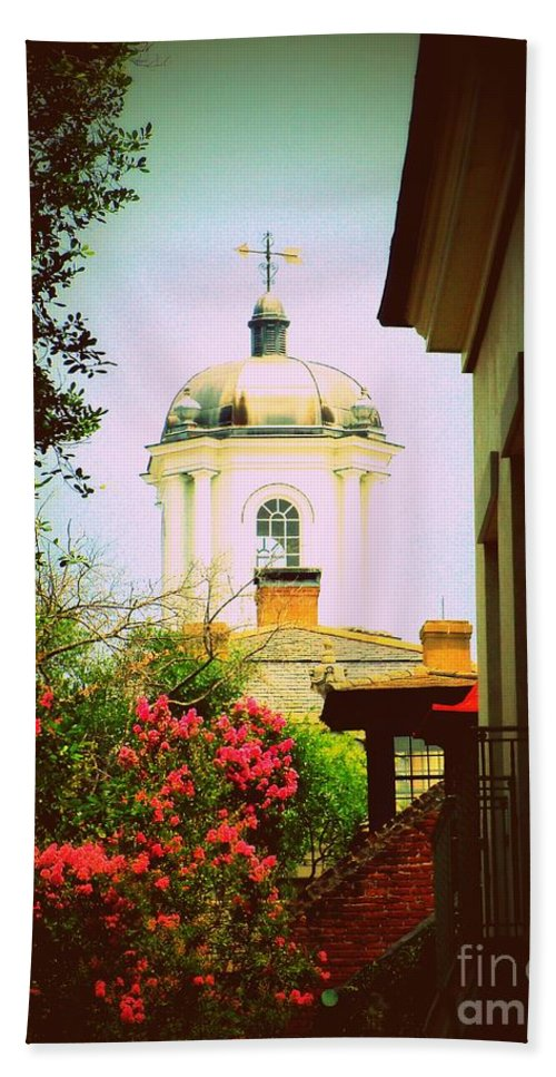 Church Hand Towel featuring the photograph Another Charleston Church by Samantha Glaze
