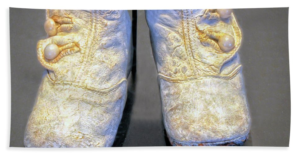 Baby Shoes Bath Sheet featuring the photograph Antique Baby Shoes by Dave Mills