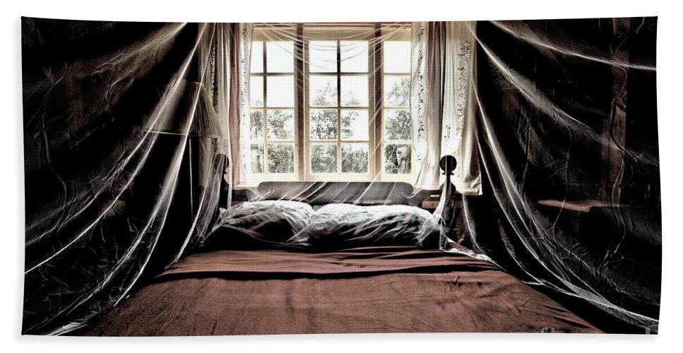 Bed Hand Towel featuring the photograph Antique Luxury by Adam Jewell
