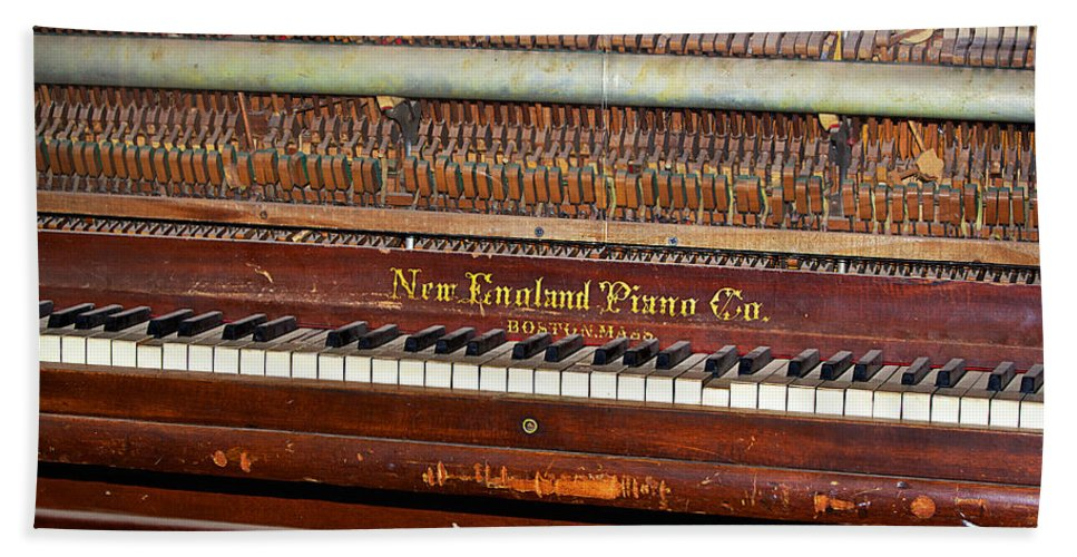 Piano Bath Sheet featuring the photograph Antique Piano by Phyllis Denton