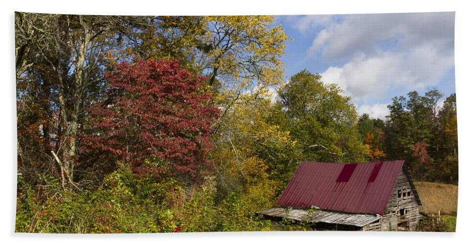 American Hand Towel featuring the photograph Appalachian Autumn by Debra and Dave Vanderlaan