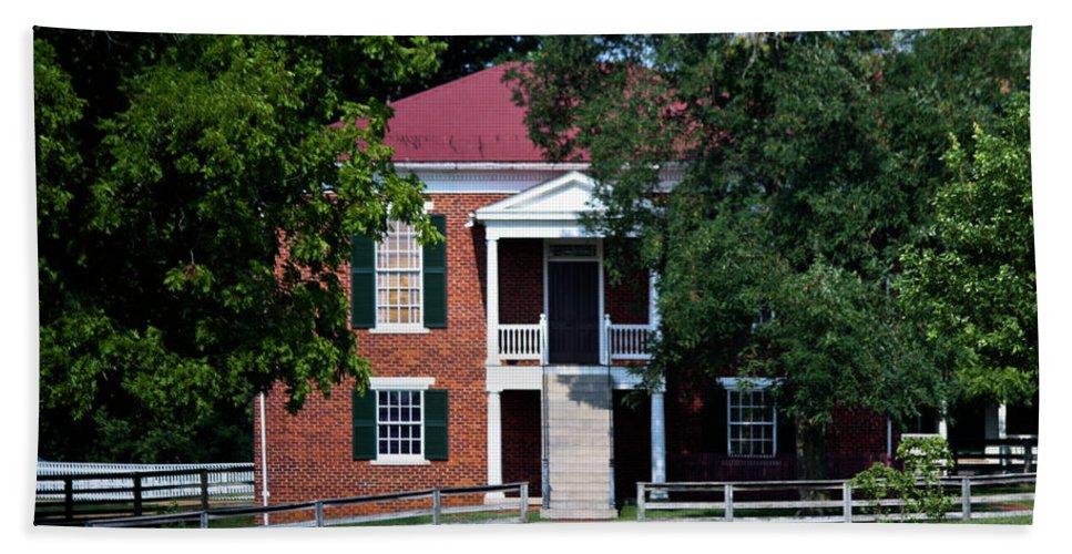 Appomattox Bath Sheet featuring the photograph Appomattox County Court House 1 by Teresa Mucha