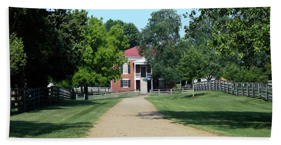 Appomattox Bath Sheet featuring the photograph Appomattox County Court House 2 by Teresa Mucha