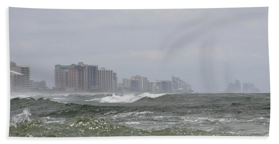 Gulf Of Mexico Bath Sheet featuring the photograph Approaching Storm by Travis Truelove