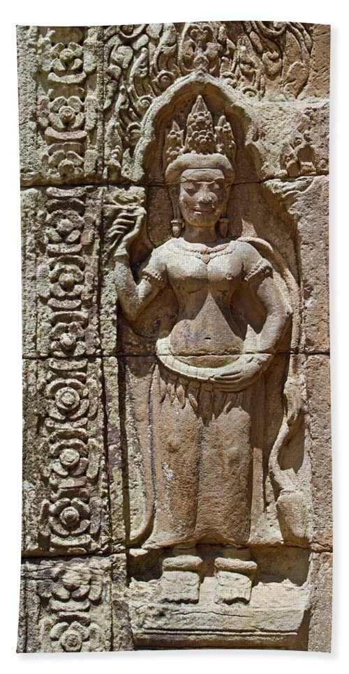 Asia Hand Towel featuring the photograph Apsara by David Freuthal