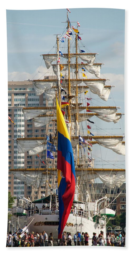 Baltimore Hand Towel featuring the photograph Arc Gloria 3 by Mark Dodd