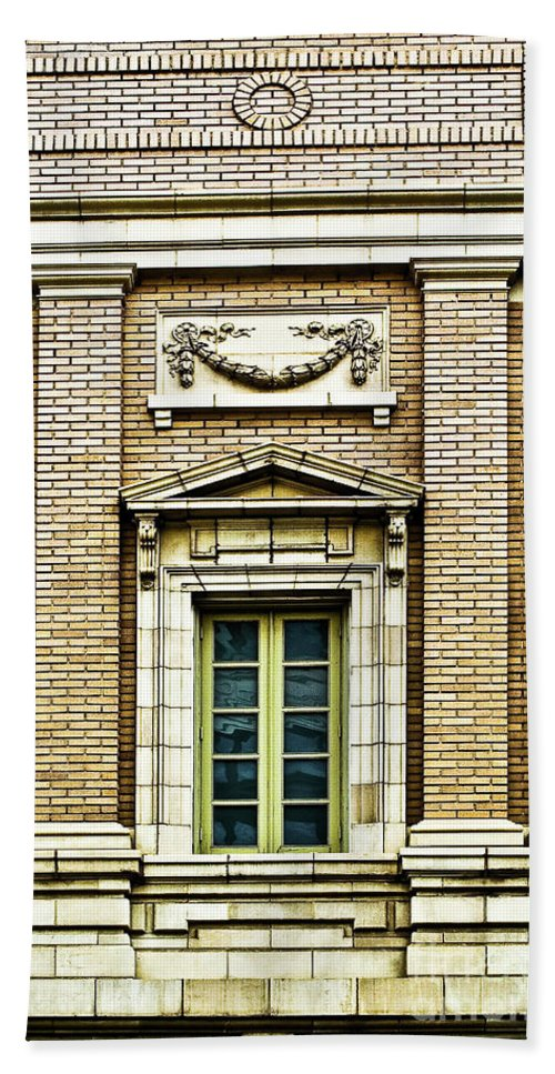 Window Bath Sheet featuring the photograph Architectural Detail 1 by Frances Hattier