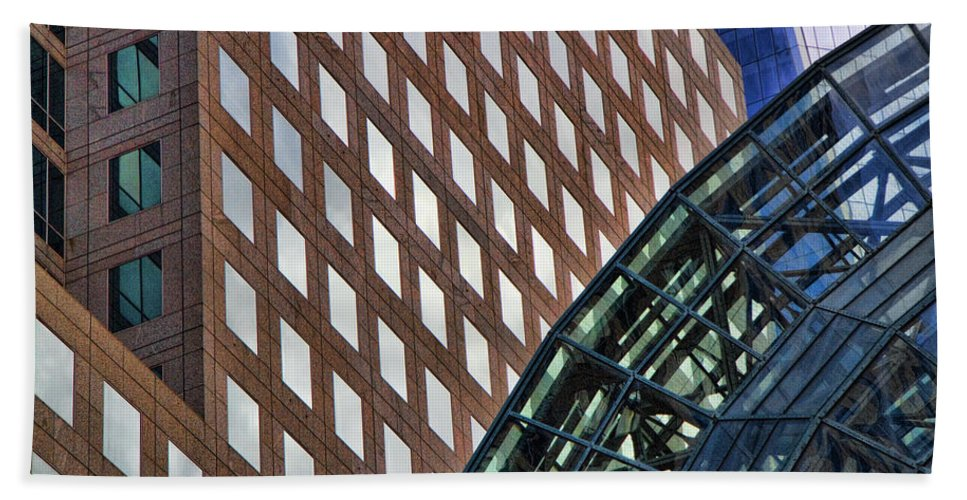 Architecture Bath Sheet featuring the photograph Architecture Building Patterns by David Smith