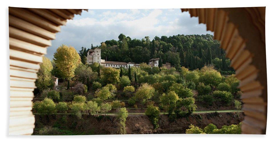 Granada Bath Sheet featuring the photograph Archway Frame by Lorraine Devon Wilke
