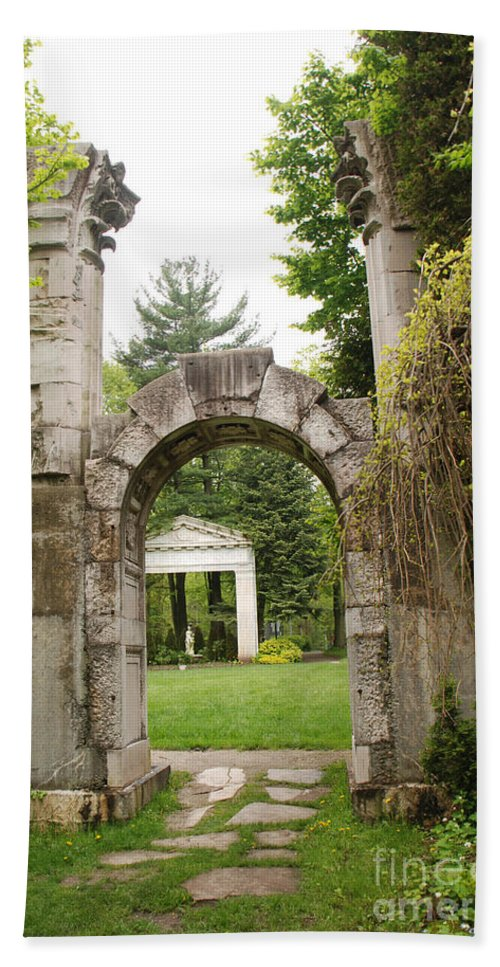 Guildwood Park Bath Sheet featuring the photograph Archway Path by Grace Grogan