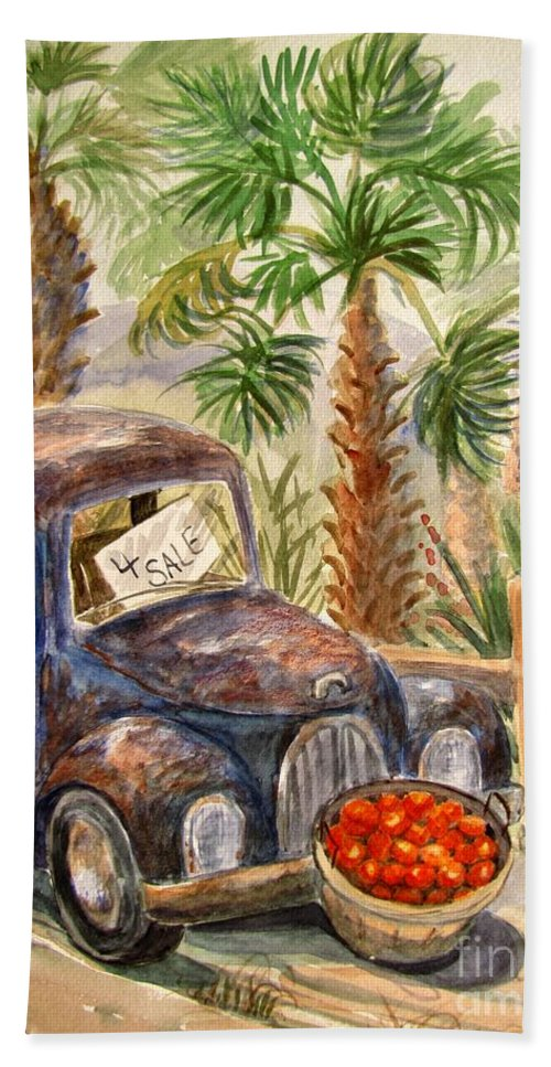Old Truck Bath Towel featuring the painting Arizona Sweets by Marilyn Smith