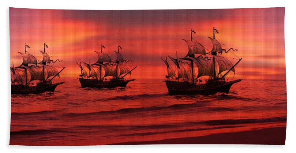Armada Bath Sheet featuring the photograph Armada by Lourry Legarde