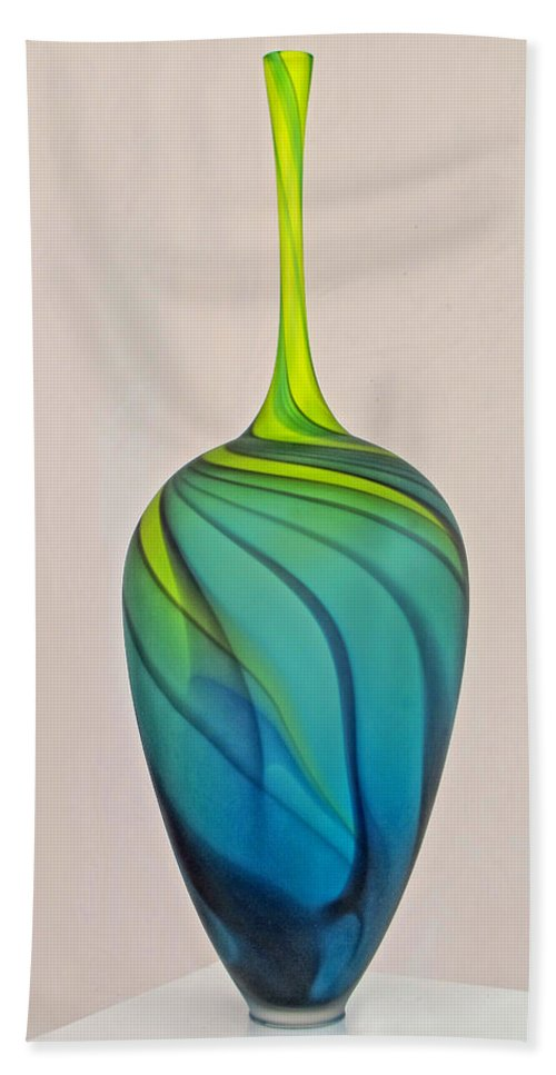 Glass Vase Hand Towel featuring the photograph Art Glass by Dave Mills