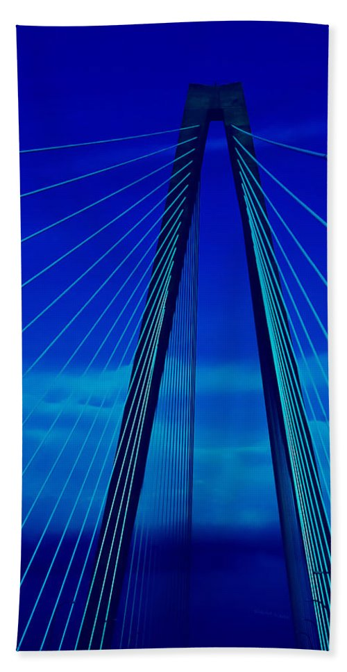 Bridge Bath Sheet featuring the photograph Arthur Ravenel Jr Bridge IIi by DigiArt Diaries by Vicky B Fuller
