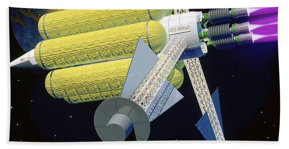 Horizontal Bath Sheet featuring the digital art Artist Rendering Of A Large Plasma by Stocktrek Images