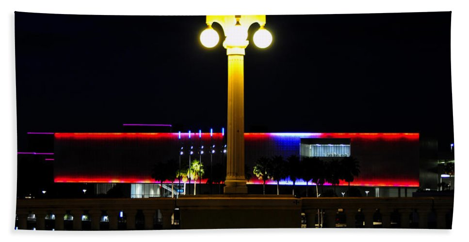 Fine Art Photography Bath Sheet featuring the photograph Artistic Lights by David Lee Thompson