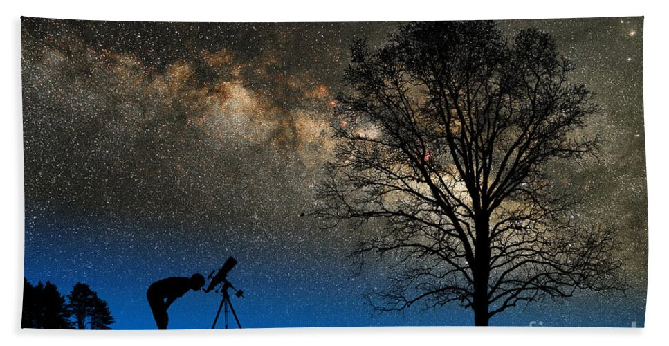 Astronomy Hand Towel featuring the photograph Astronomy by Larry Landolfi and Photo Researchers