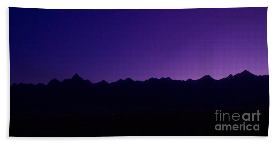 Purple Bath Sheet featuring the photograph At First Light by Peggy Starks