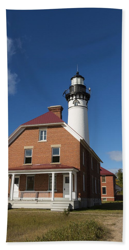Au Sable Hand Towel featuring the photograph Au Sable Lighthouse 7 by John Brueske