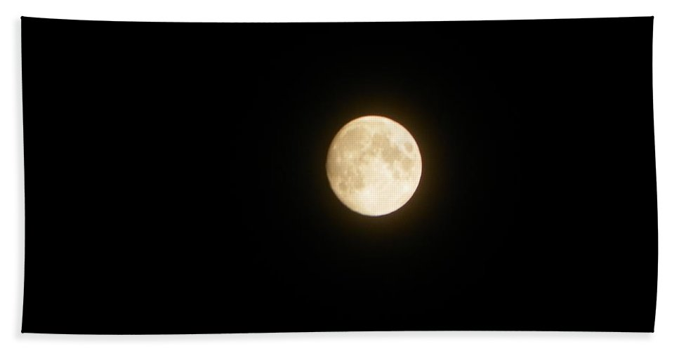 Full Moon Bath Sheet featuring the photograph August Night Full Moon I I by Sheri McLeroy
