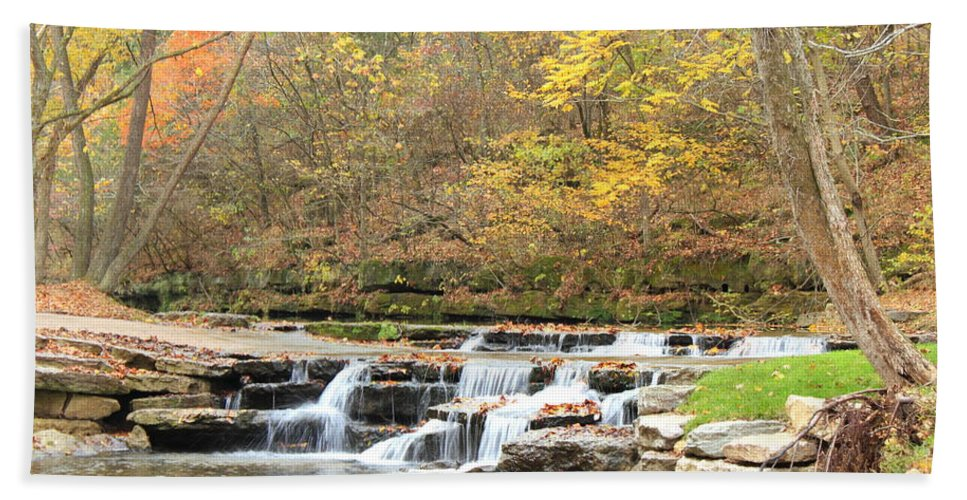 Landscape Bath Sheet featuring the photograph Autumn Creek by Bryan Noll