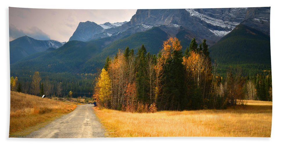 Rockies Hand Towel featuring the photograph Autumn In The Rockies by Tara Turner