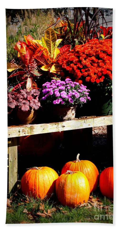 Autumn Bath Sheet featuring the photograph Autumn Market by Carol Groenen