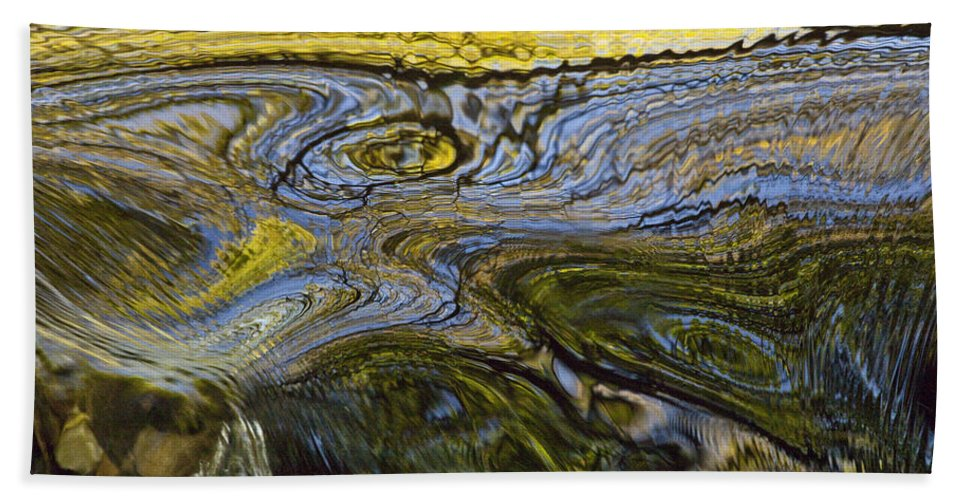Hhh Hand Towel featuring the photograph Autumn Patterns In Small Waterfall by Colin Monteath